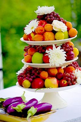 Fruit Wedding Cake by Nickles Photography
