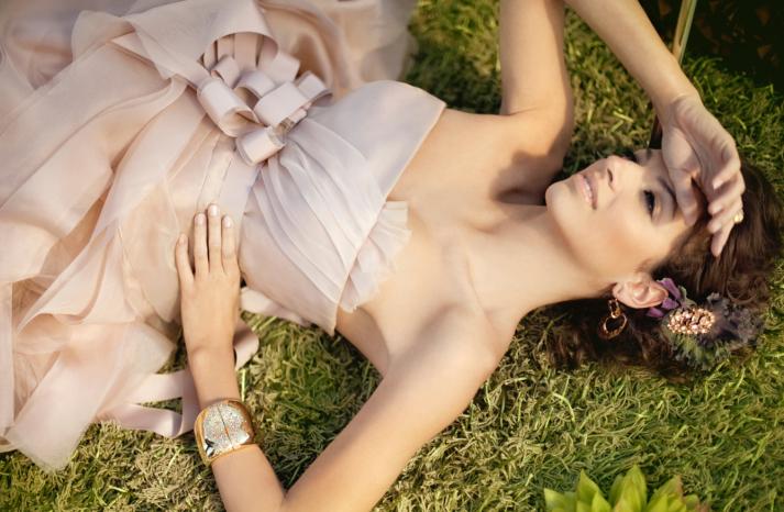 2012 wedding trends Blush pink wedding dress