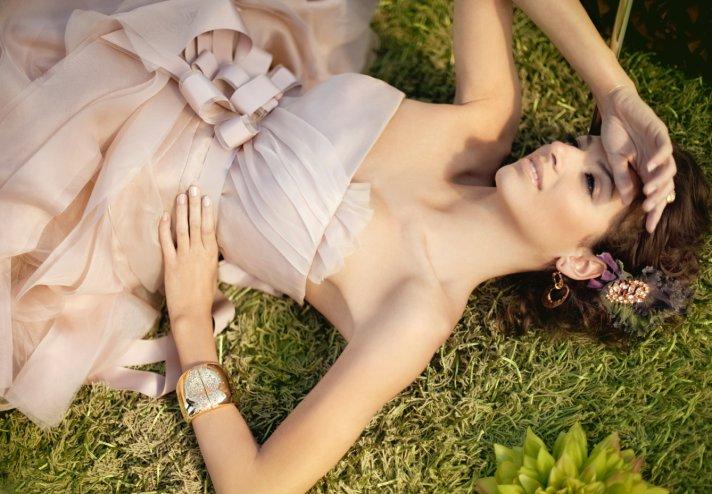 2012 wedding trends- Blush pink wedding dress