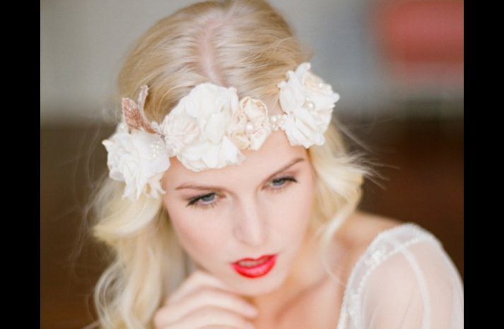 Wedding-makeup-wear-red-lips-down-white-aisle-1