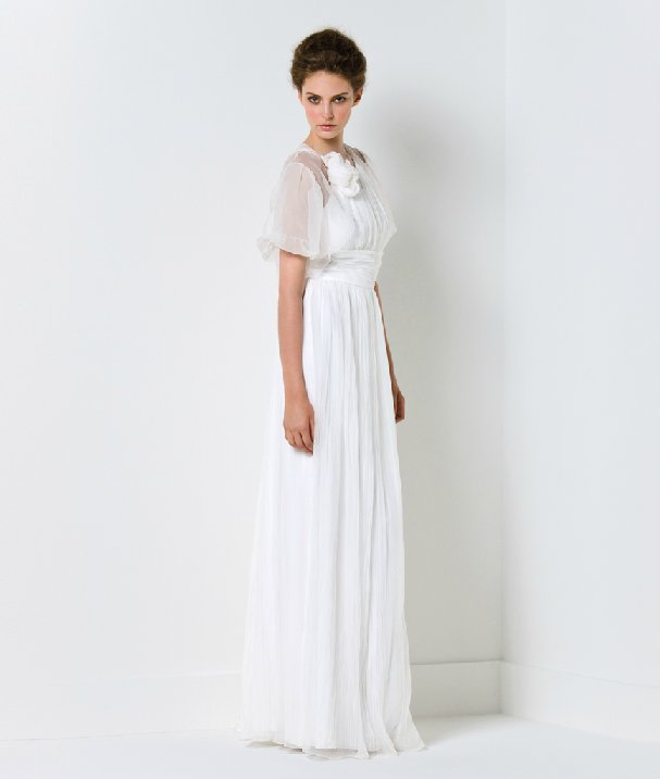 Elegant romantic wedding dress by Max Mara