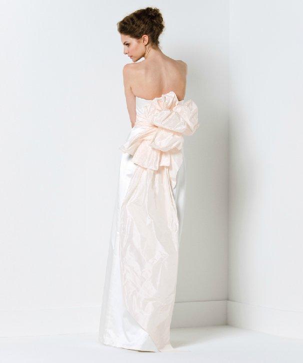 Sleek column wedding dress