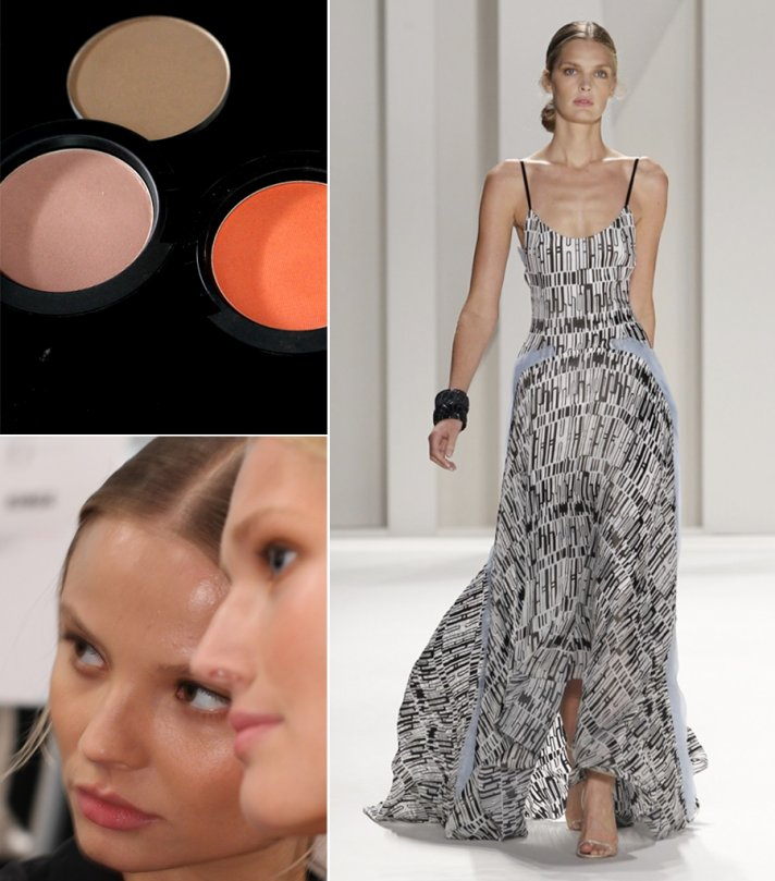 Carolina Herrera Spring 2012 gown and wedding beauty inspiration