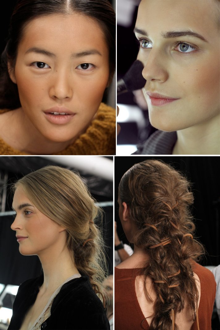 Safari chic wedding hair and makeup with bohemian-inspired braid