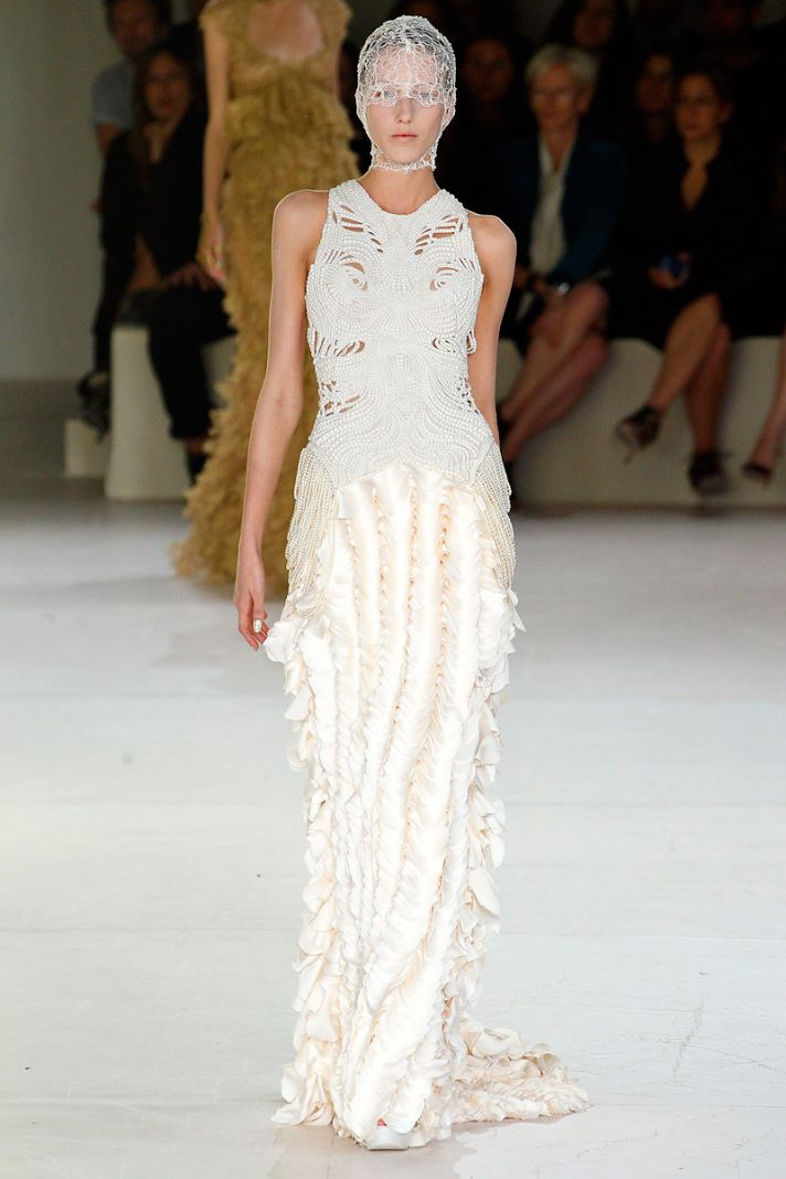 Alexander mcqueen spring 2012 sea inspired dresses onewed for 2012 dresses