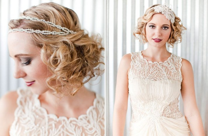 ROmantic wedding hair accessories, vintage wedding dress