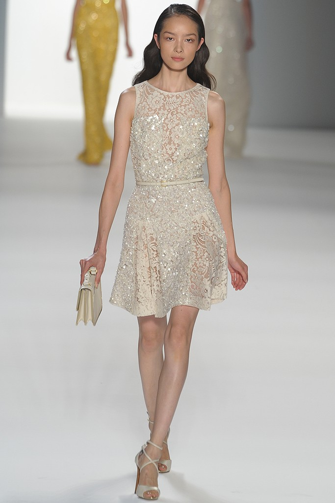 Credit Little ivory dress for your wedding reception by Elie Saab via WWD