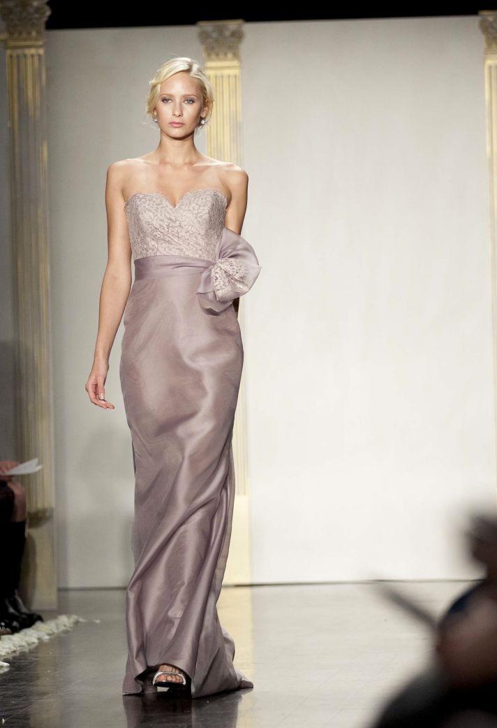 Full-length bridesmaid dress