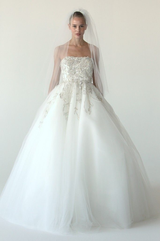Tulle ballgown wedding dress by Marchesa