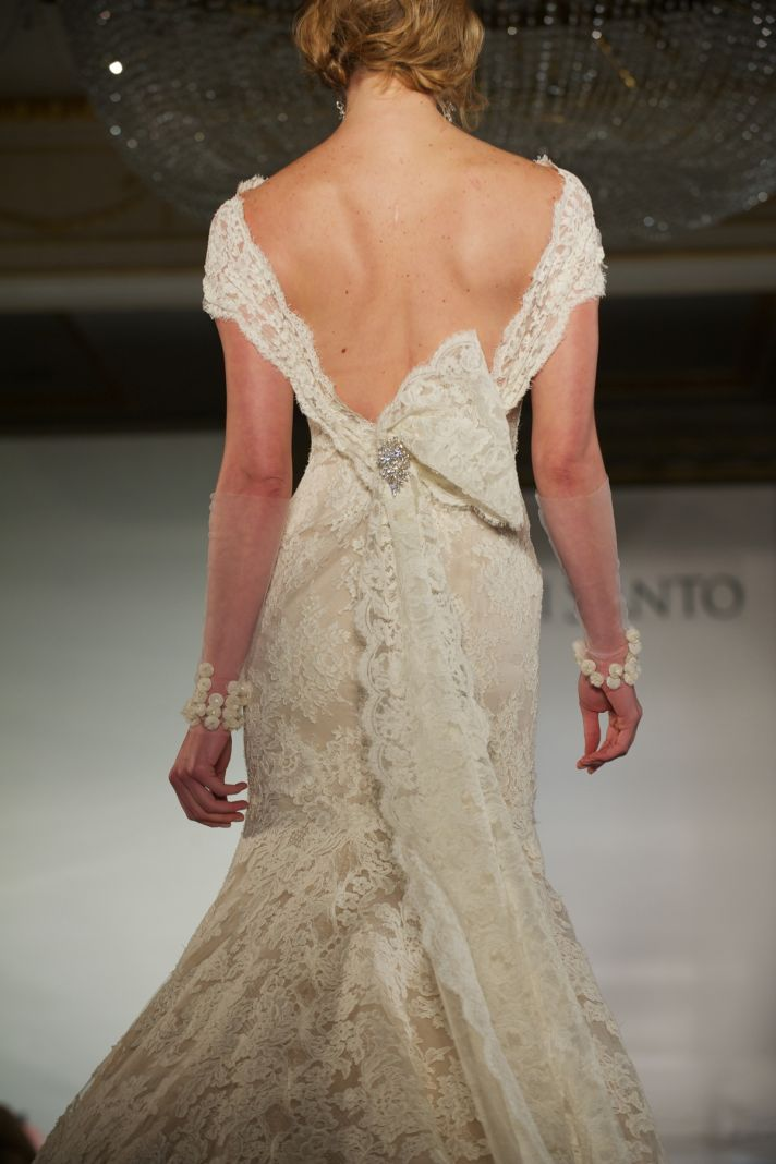 2012 wedding dress trends deep v backs Ines di Santo