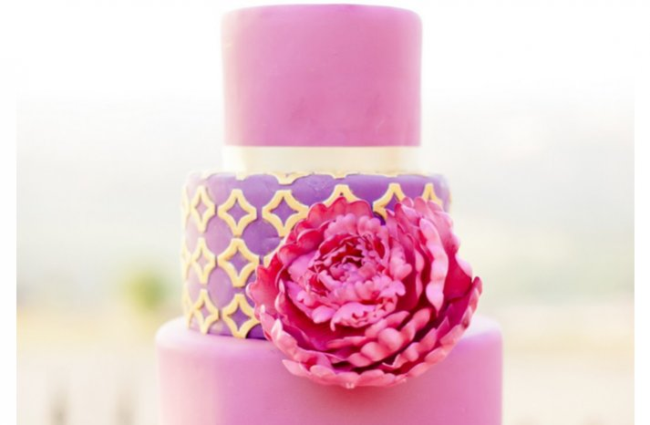 Pink-purple-wedding-cake