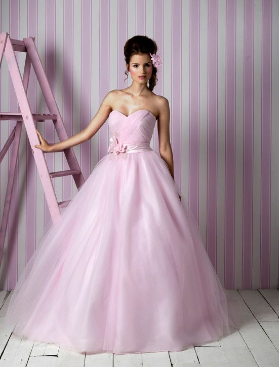 Charlotte Balbier wedding dresses, 2012 bridal gown- pink ballgown