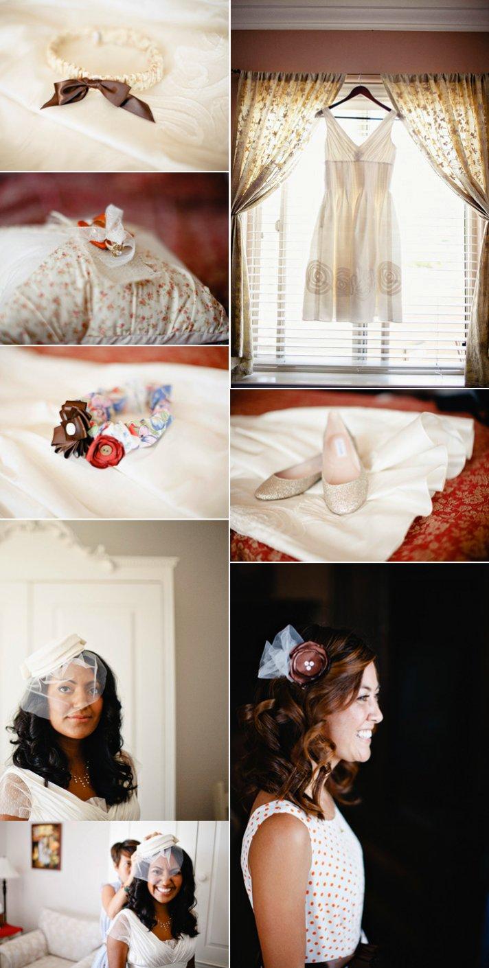 Real California weddings- vintage bride, barn wedding venue by Matthew Morgan Photography