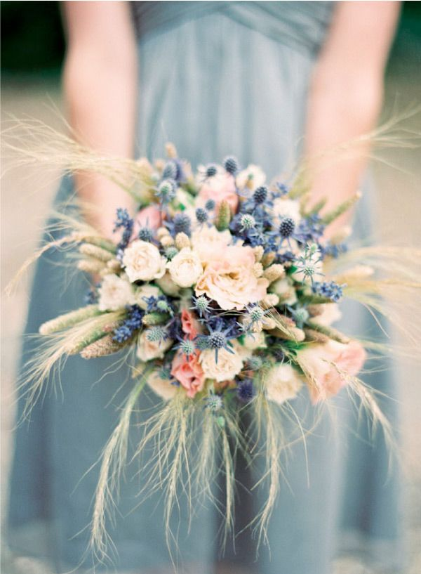Favorite fall bridal bouquets suggested by Oh Lovely Day- barnyard wedding