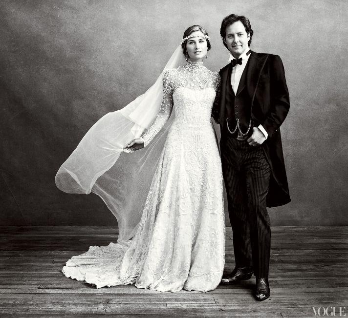 Celebrity wedding dresses- Lauren Bush's custom Ralph Lauren bridal gown