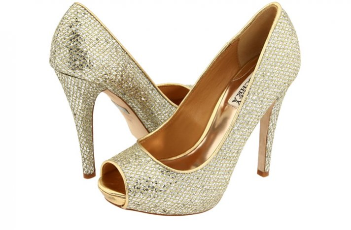 sparkly silver platform wedding shoes