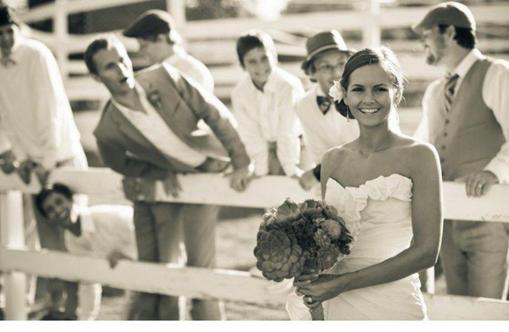 black white wedding photo eco friendly bridal bouquet succulents