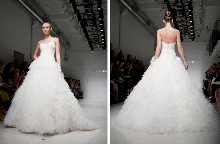 feather ballgown wedding dress 2012 bridal gowns kenneth pool