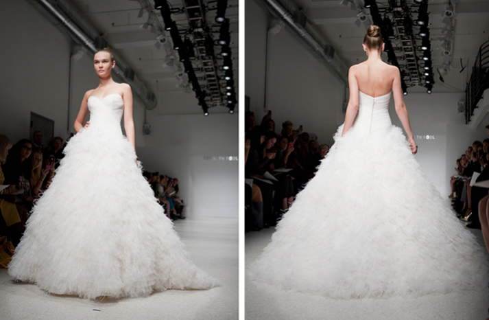 Sweetheart Strapless Bridal Gowns 2012