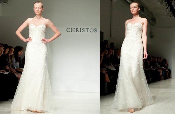 Christos-simple-strapless-wedding-dress-ivory-2012