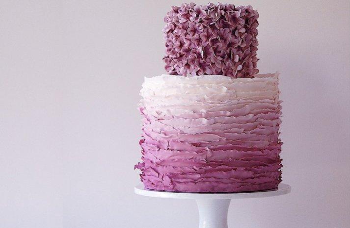 purple ombre wedding cake maggie austin