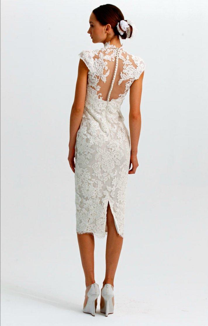 statement backs 2012 wedding dress trends marchesa lace LWD
