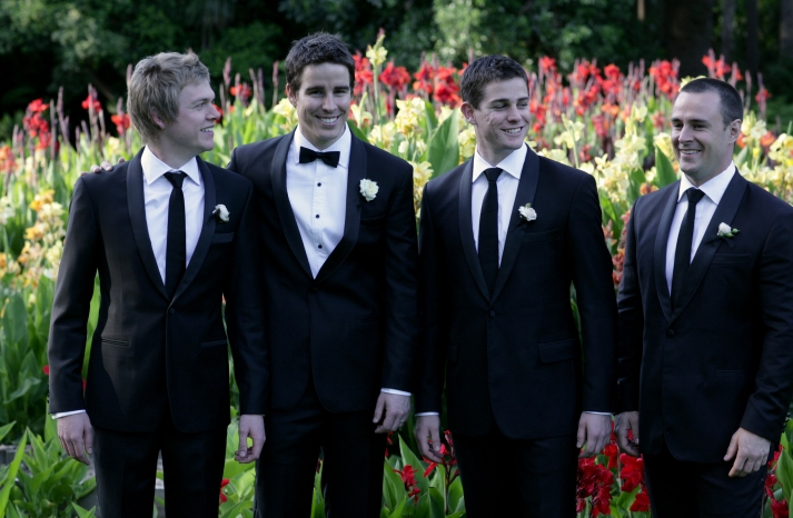 au real wedding dapper groom groomsmen