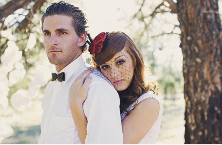 vintage glam wedding style 9