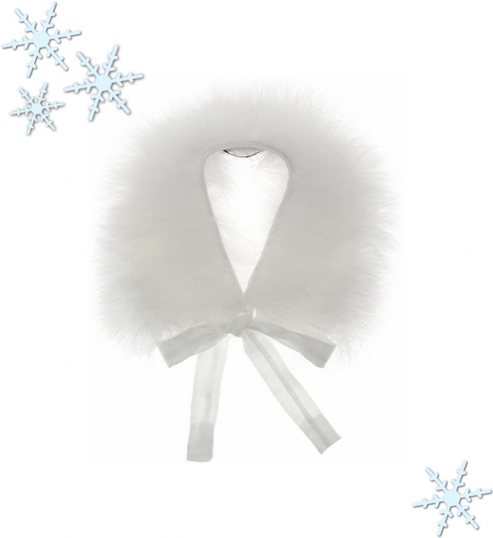 winter wedding style bridal fur shrug