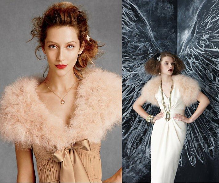 fur bridal shrug bhldn winter wedding accessories