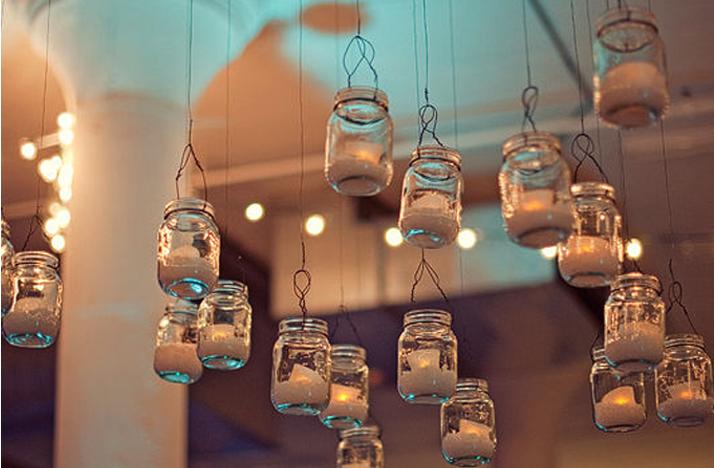 vintage wedding ideas mason jars ceremony reception decor 3 Credit none