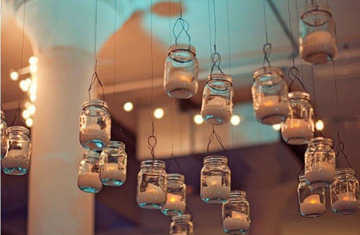 vintage wedding ideas mason jars ceremony reception decor 3