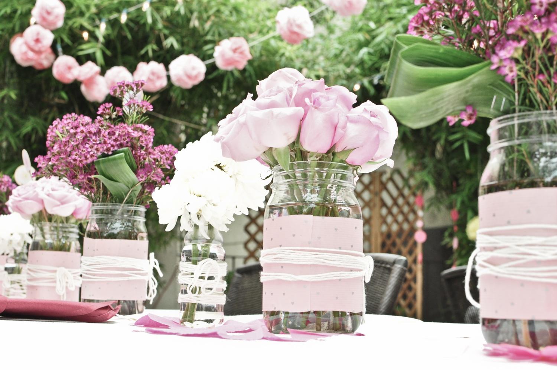 Mason jar crafts wedding - Wedding Centerpieces