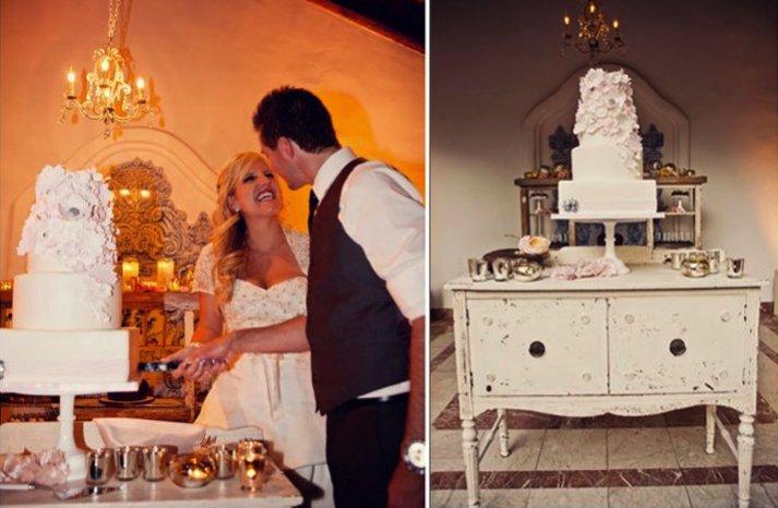 romantic floral wedding cake