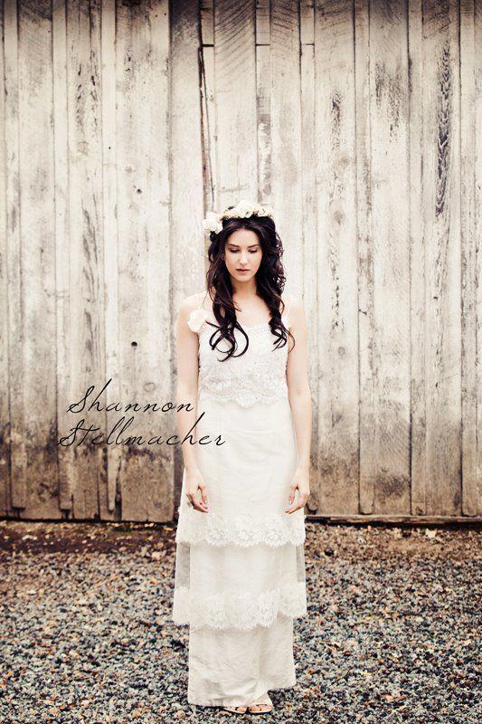 vineyard wedding ideas bridal gown headpiece 6