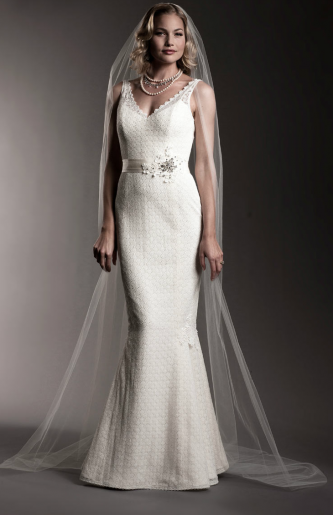 Yesterday we featured some of our favorite cap sleeved wedding dresses of