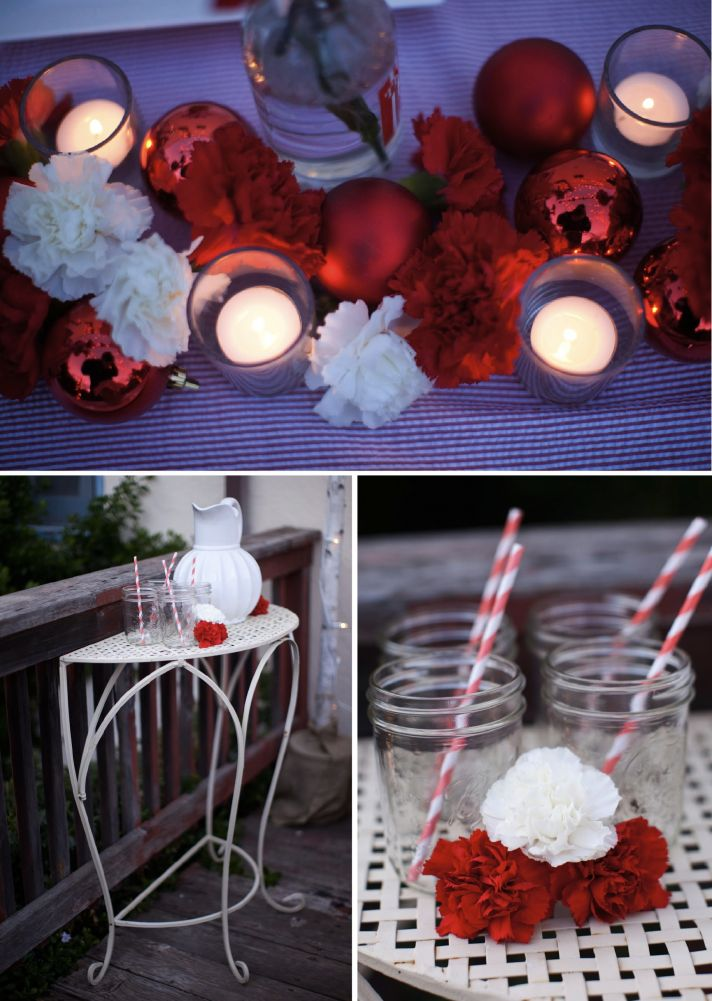 red white holiday wedding tablescape 2