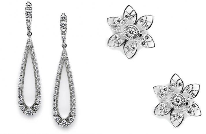 tacori wedding earrings bridal jewelry