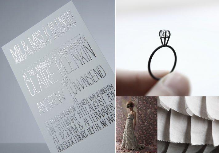 silver wedding ideas winter wedding stationery bhldn bridal gown engagement ring