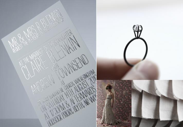 silver wedding ideas winter wedding stationery bhldn bridal gown engagement