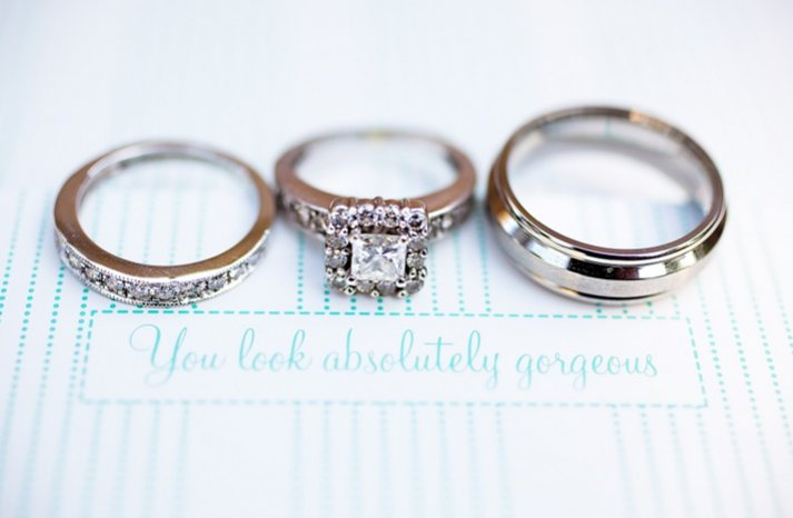 engagement rings wedding bands photographed in a gorgeous way