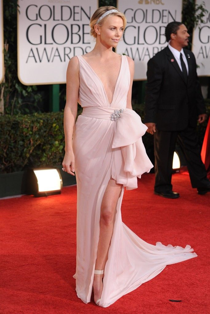 2012 wedding dress inspiration from Golden Globes- Charlize Theron in Dior Couture