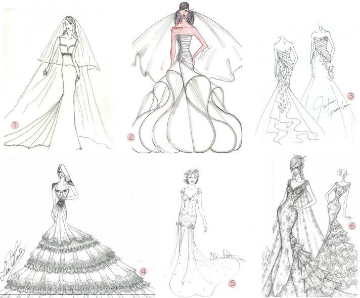 2012 wedding dresses anne hathaway bridal gown sketches celeb weddings