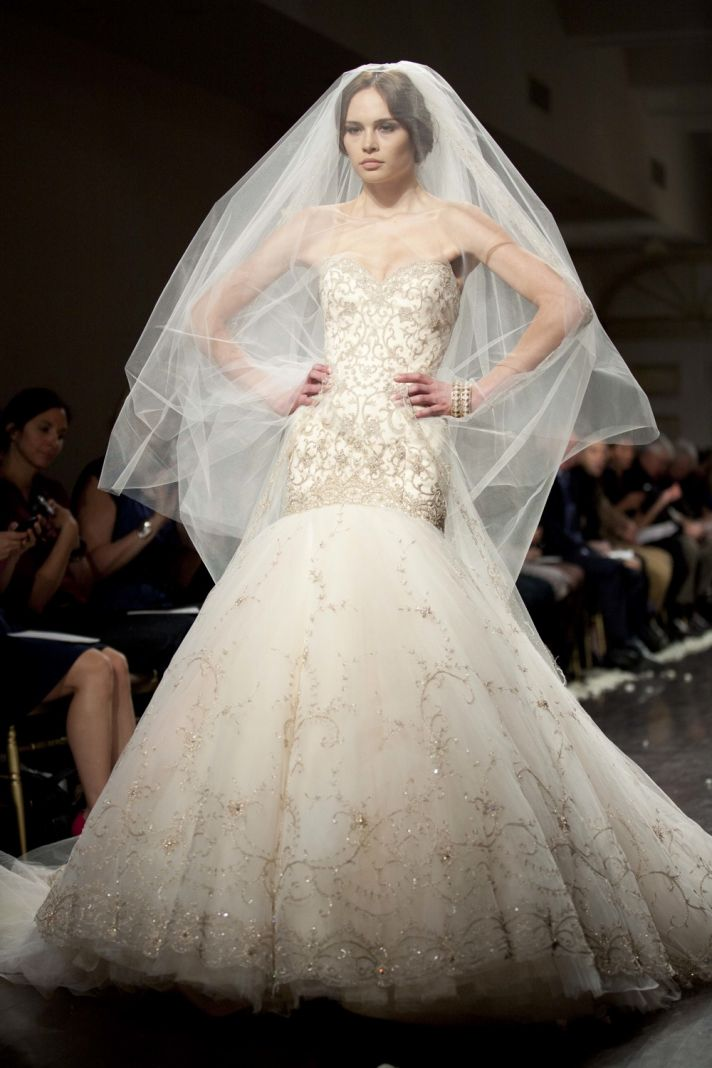 2012 beaded wedding dress lazaro mermaid bridal gown