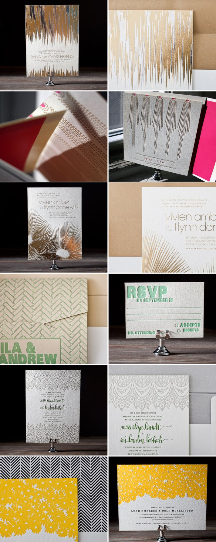 2012 wedding invitations letterpress modern
