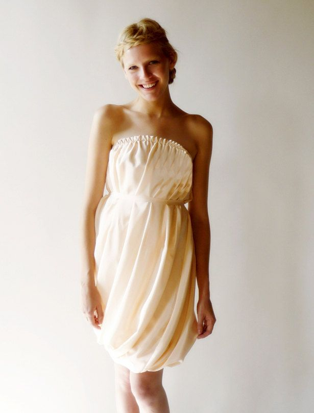 dahl wedding dress peach halter above the knee