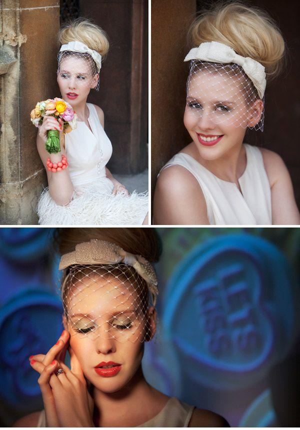 high bridal bun vintage inspired wedding style