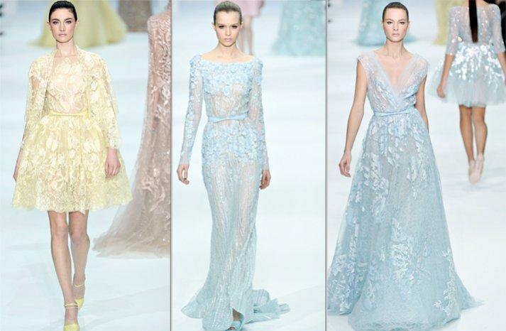 spring wedding ideas non white wedding dress couture elie saab