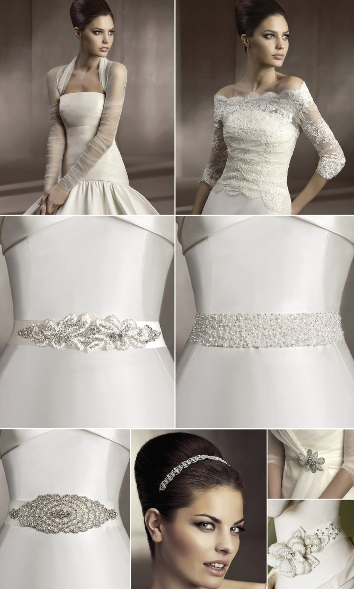 d3c96ef7198 2012 bridal hair accessories and wedding dress sashes by Pronovias