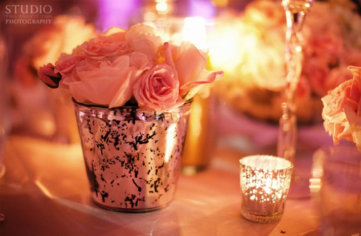 simple wedding centerpieces pink roses